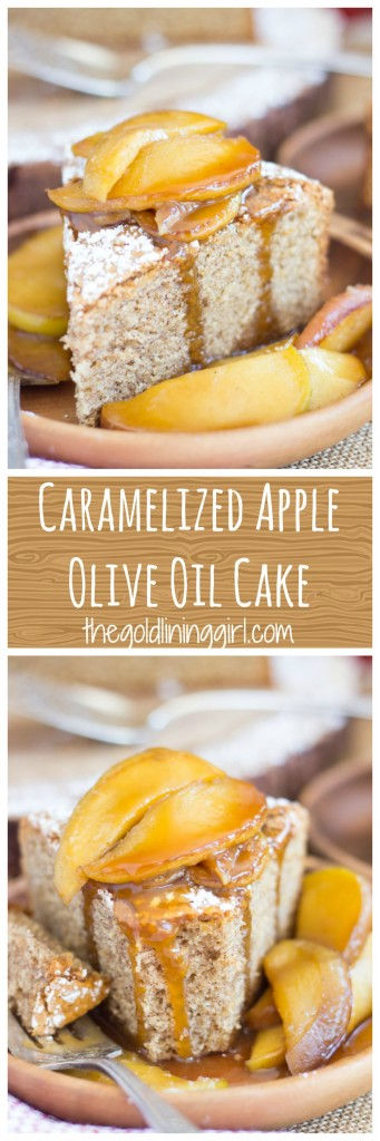 Apple Spiced Olive Oil Cake with Caramelized Apples pin