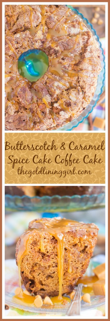 Butterscotch & Caramel Spice Cake Coffee Cake pin