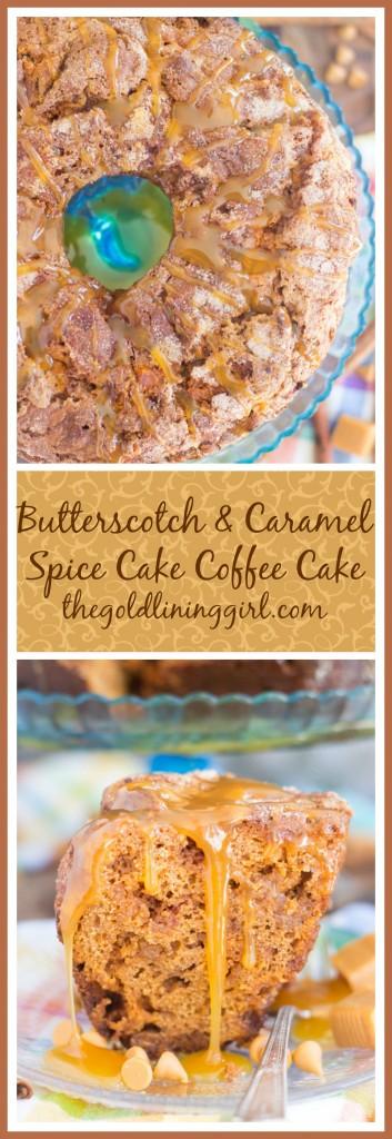 Butterscotch & Caramel Spice Cake Coffee Cake pin