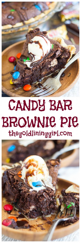 Candy Bar Brownie Pie pin