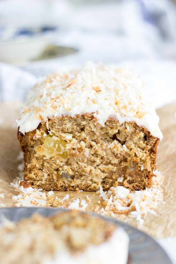 Coconut Pineapple Sweet Potato Bread with Rum Icing (14)