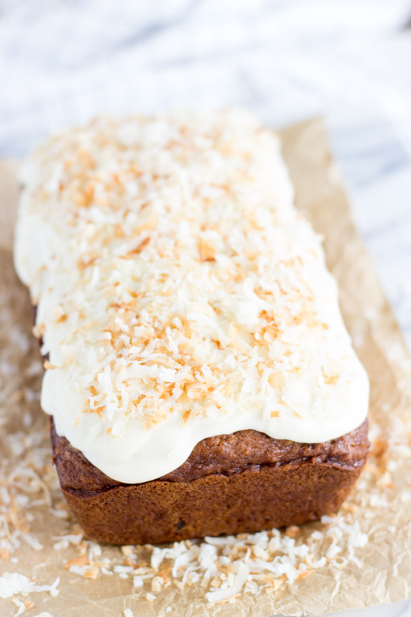Coconut Pineapple Sweet Potato Bread with Rum Icing (8)