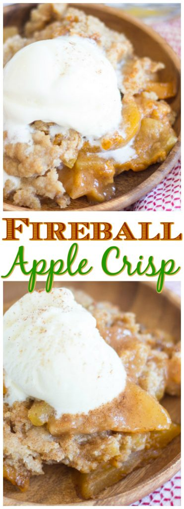 Fireball Apple Crisp recipe image thegoldlininggirl.com pin 2
