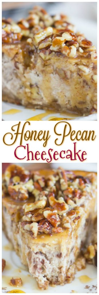 Honey Pecan Cheesecake thegoldlininggirl pin 1