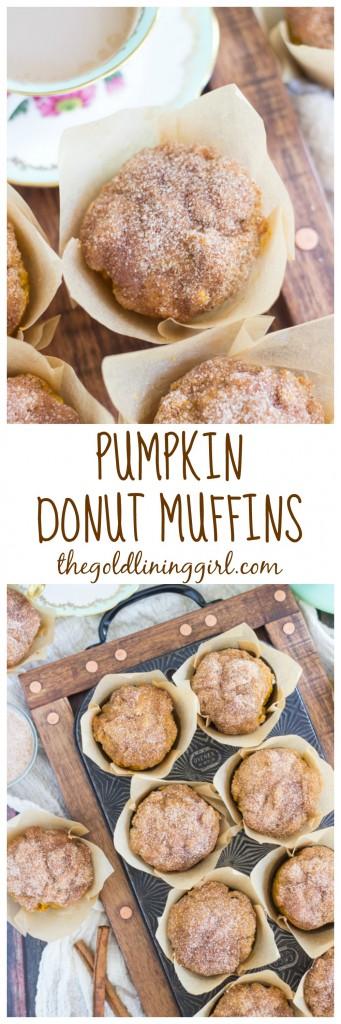 Pumpkin Donut Muffins pin