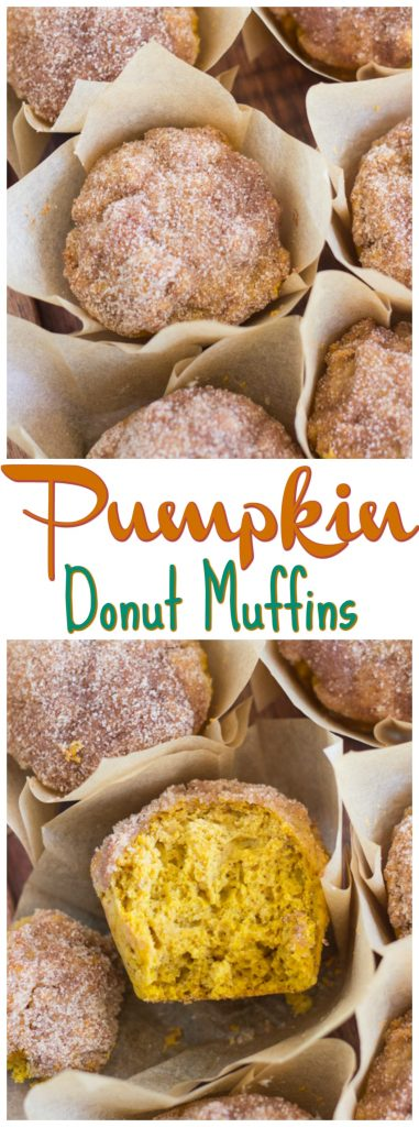Pumpkin Donut Muffins recipe image thegoldlininggirl.com pin 2