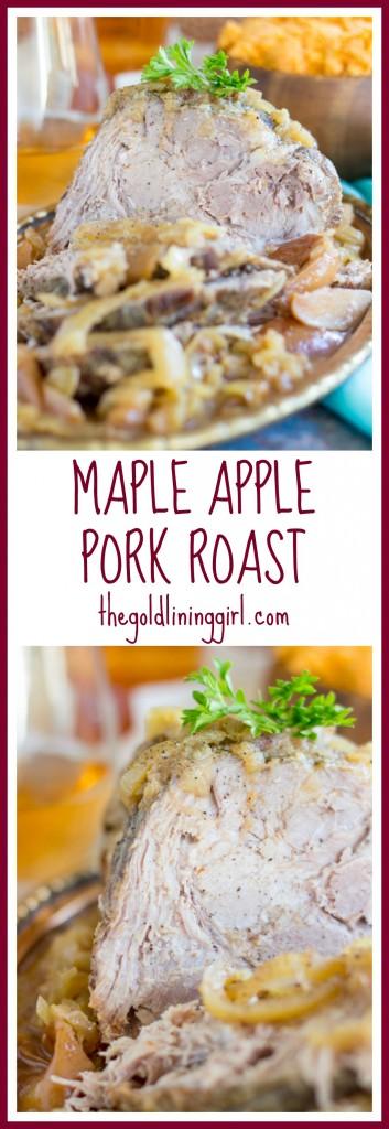 Slow-Cooker Maple Apple Pork Roast pin