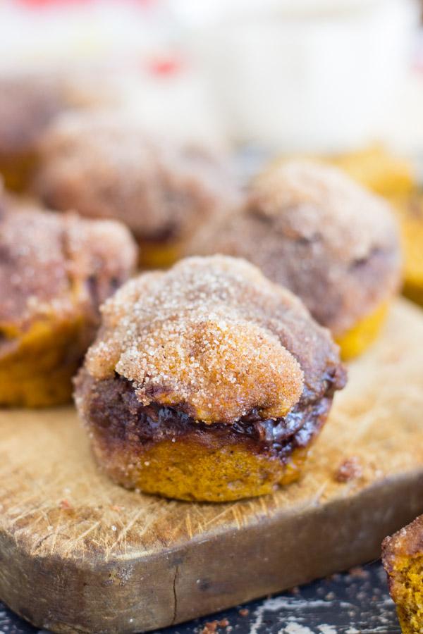 Snickerdoodle Pumpkin Nutella Muffins (23)