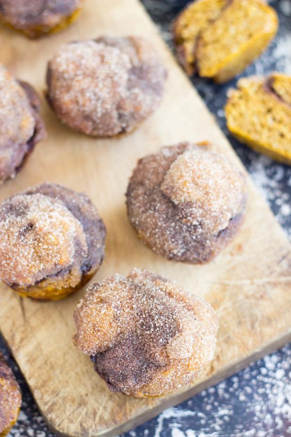 Snickerdoodle Pumpkin Nutella Muffins (9)