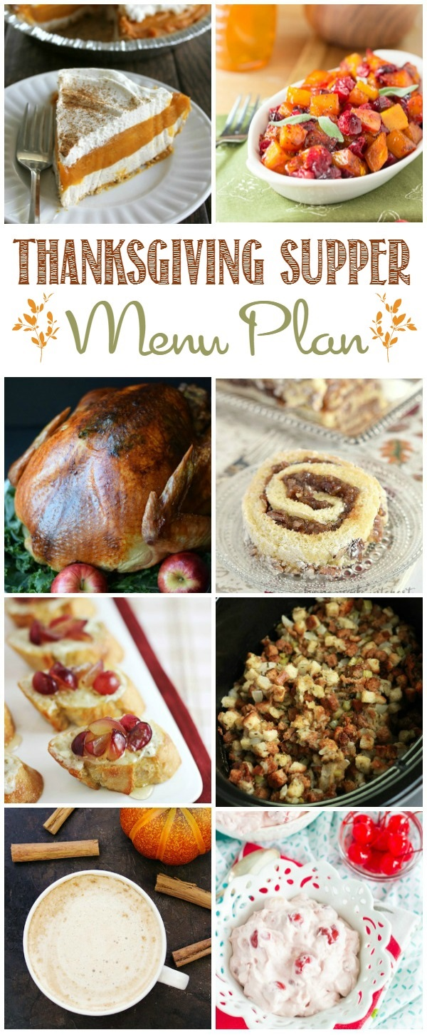 Thanksgiving Supper Menu Plan HERO