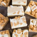 White Chocolate Peanut Butter Cup Fudge