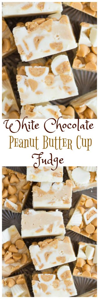 White Chocolate Peanut Butter Cup Fudge pin 1