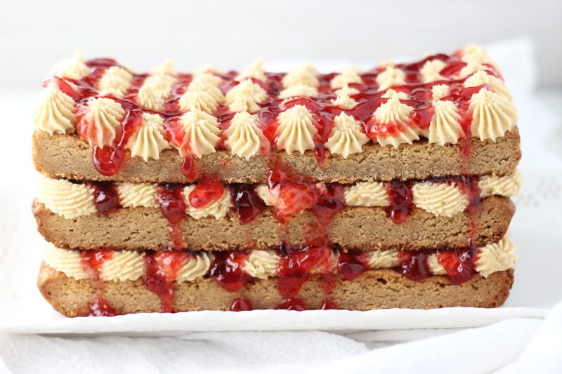 peanut butter & jelly torte 1
