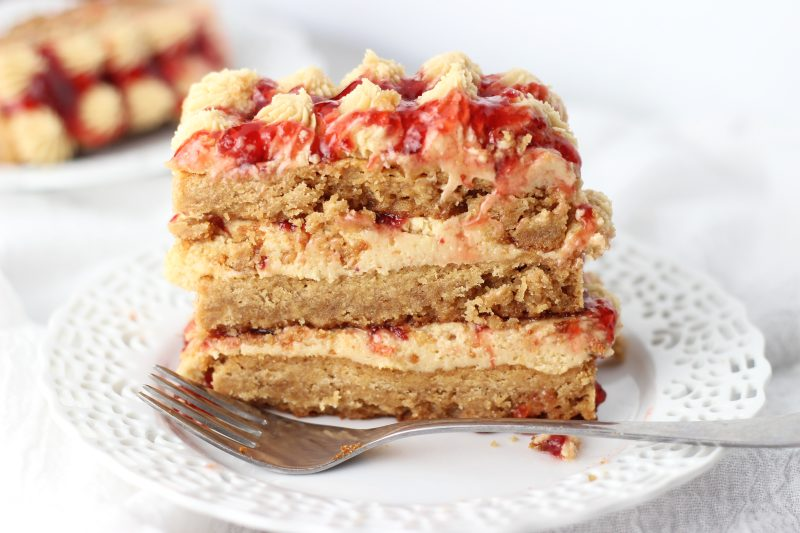 peanut butter & jelly torte 10