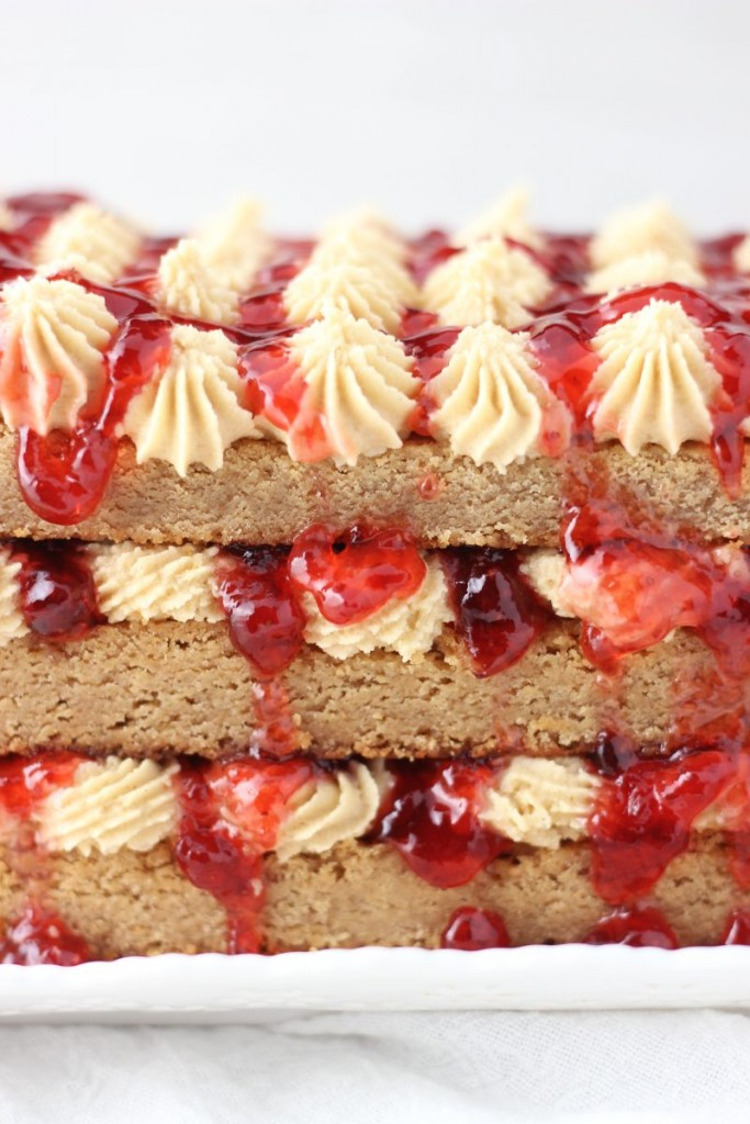 peanut butter & jelly torte 3