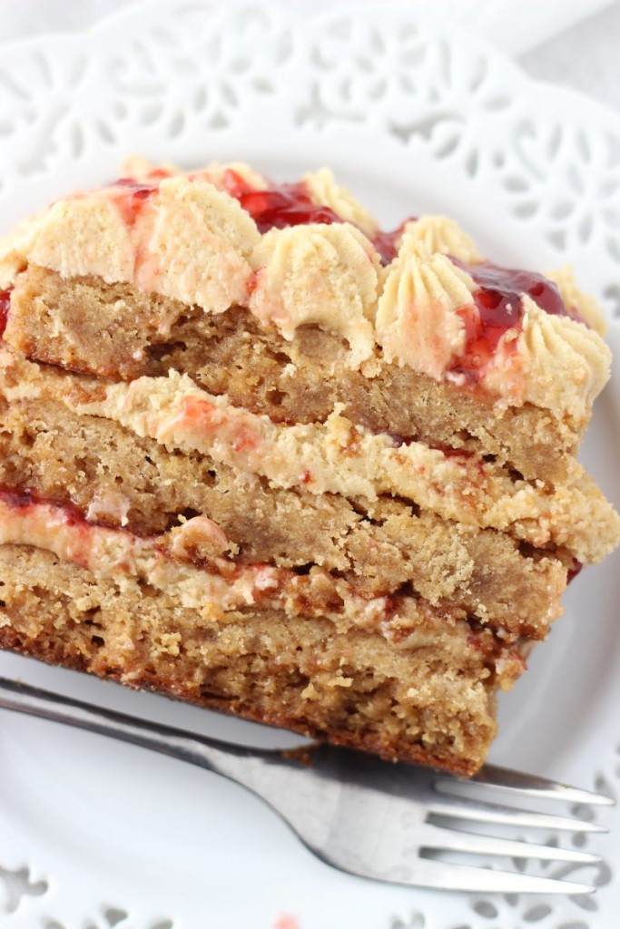 peanut butter & jelly torte 8
