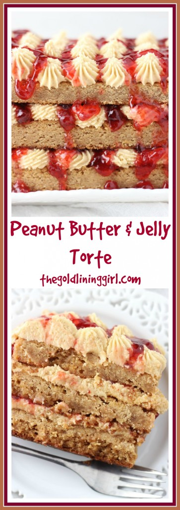 peanut butter & jelly torte pin