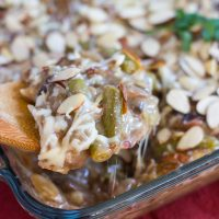 Cheesy Green Bean Casserole Amandine