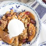 Gingersnap Cranberry Apple Crisp