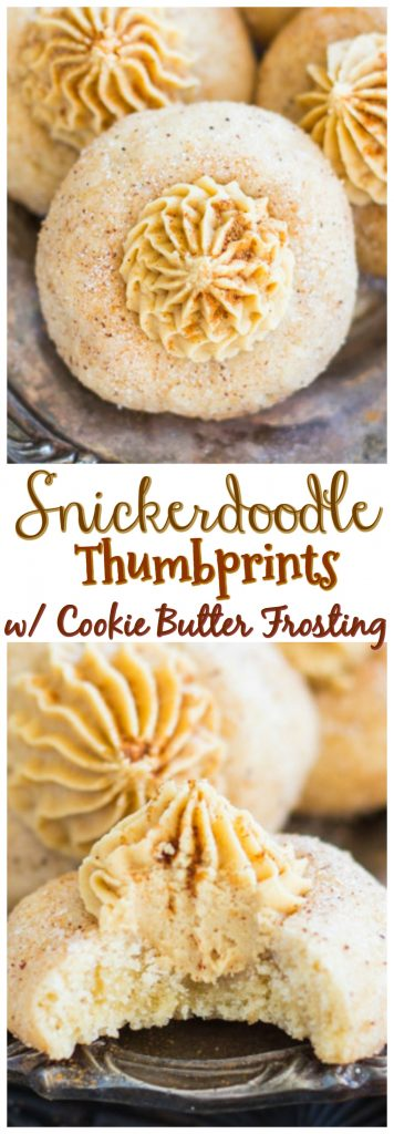 Snickerdoodle Thumbprints with Cookie Butter Buttercream pin