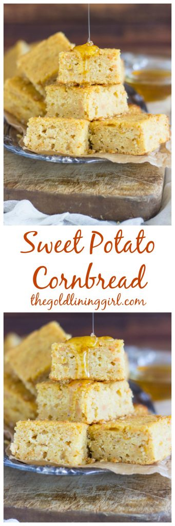 With a touch of honey, this sweet potato cornbread is the most moist ...