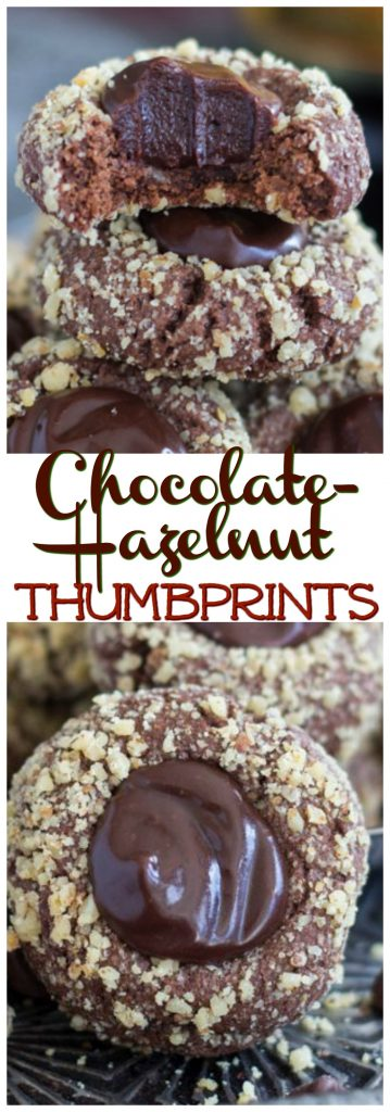 Chocolate-Hazelnut Thumbprints with Kahlua Ganache pin 2