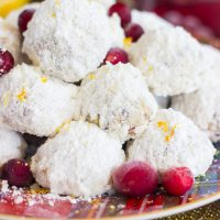 Cranberry Orange Snowballs