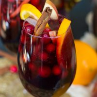 Cranberry-Pomegranate Sangria