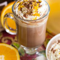 Grand Marnier & Kahlua Hot Chocolate Lattes