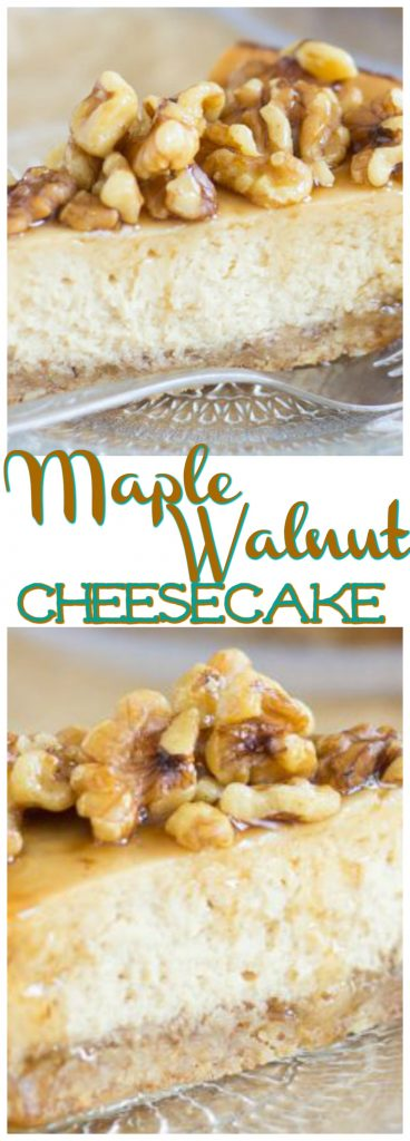 Maple Nut Cheesecake with Walnut Crust pin