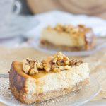 Maple Nut Cheesecake with Walnut Crust