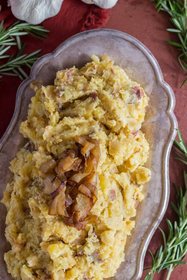 Caramelized Onion Garlic & Goat Cheese Mashed Potatoes (11)