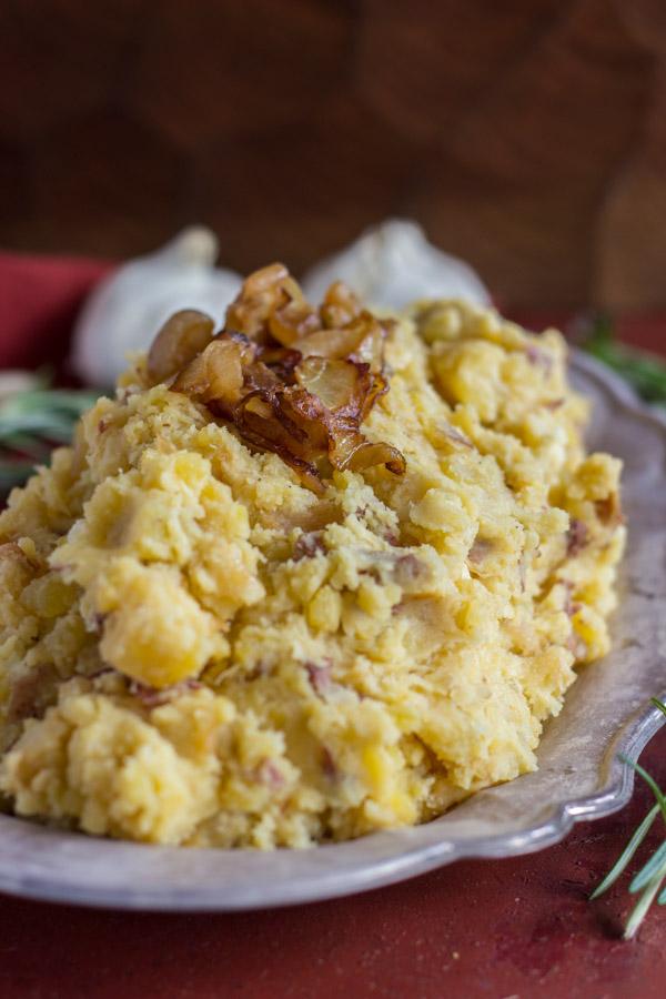 Caramelized Onion Garlic & Goat Cheese Mashed Potatoes (3)