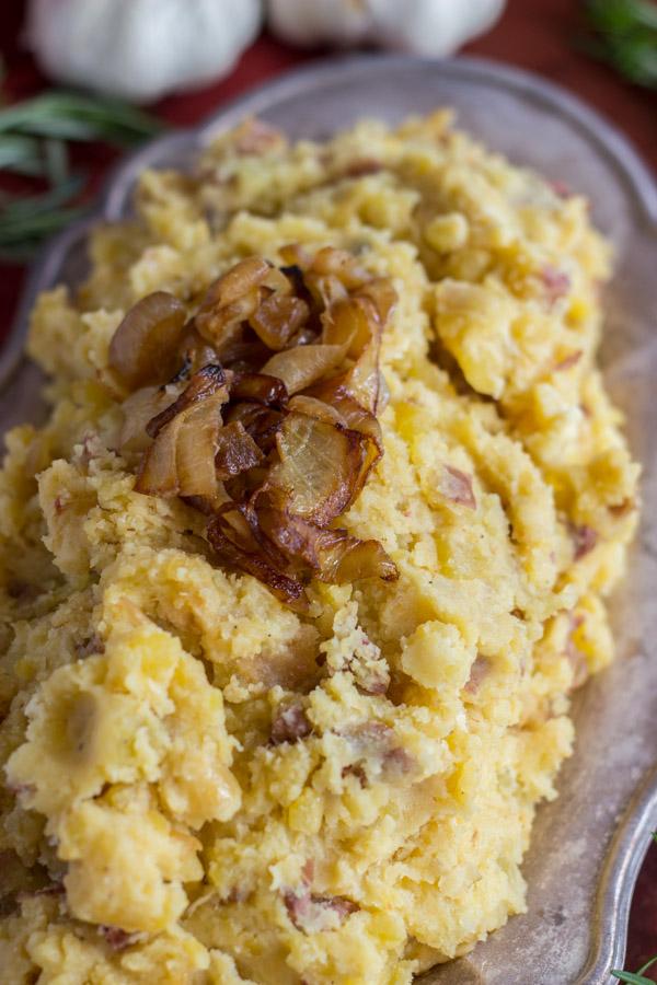 Caramelized Onion Garlic & Goat Cheese Mashed Potatoes (5)