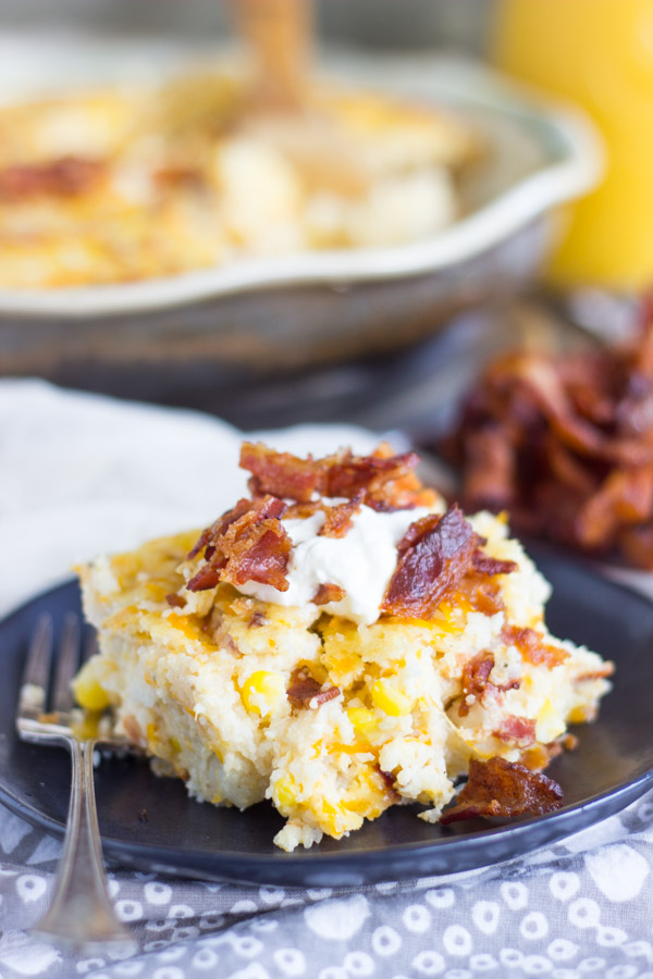 Cheesy Grits Casserole with Bacon and Corn (13)