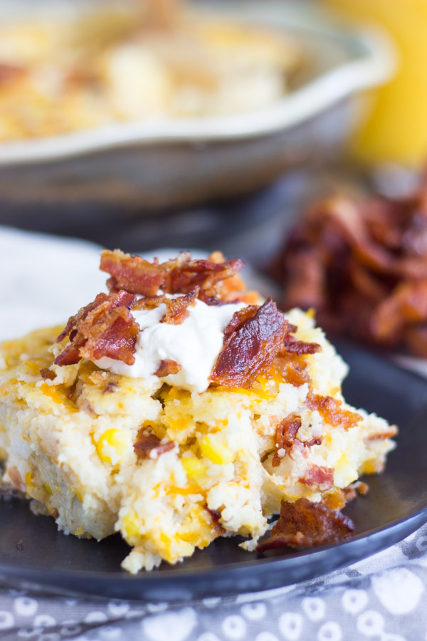 Cheesy Grits Casserole with Bacon and Corn (14)