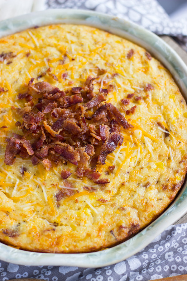 Cheesy Grits Casserole with Bacon and Corn (6)