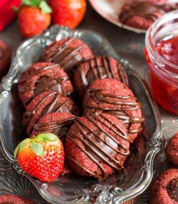 Chocolate-Covered Strawberry Thumbprints (1)