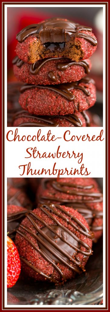Chocolate-Covered Strawberry Thumbprints pin