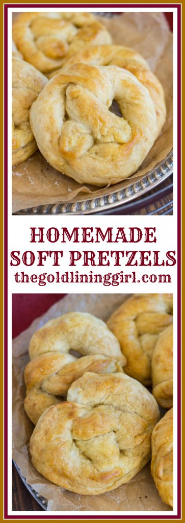 Homemade Soft Pretzels pin