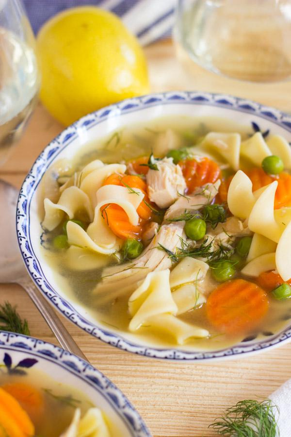 Lemon Dill Chicken Noodle Soup (11)