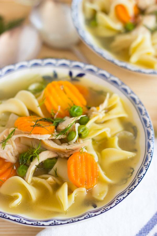 Lemon Dill Chicken Noodle Soup (12)