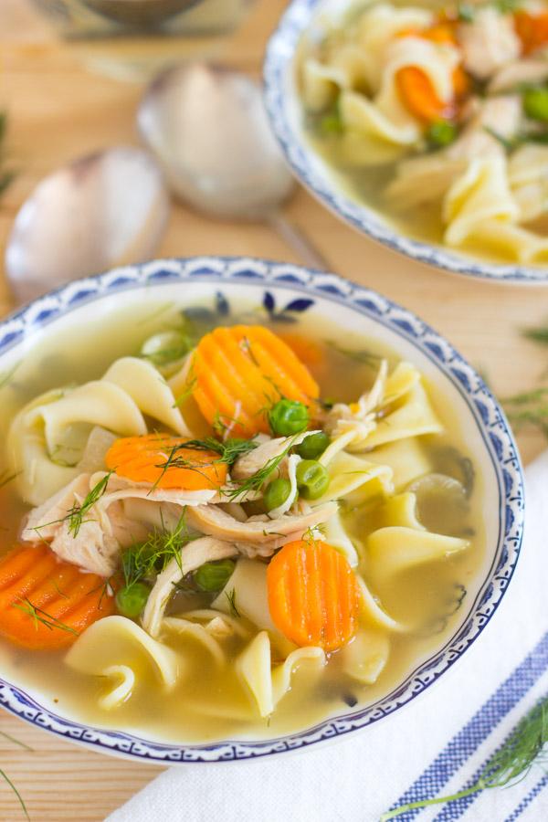 Lemon Dill Chicken Noodle Soup (5)