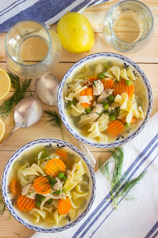 Lemon Dill Chicken Noodle Soup (9)