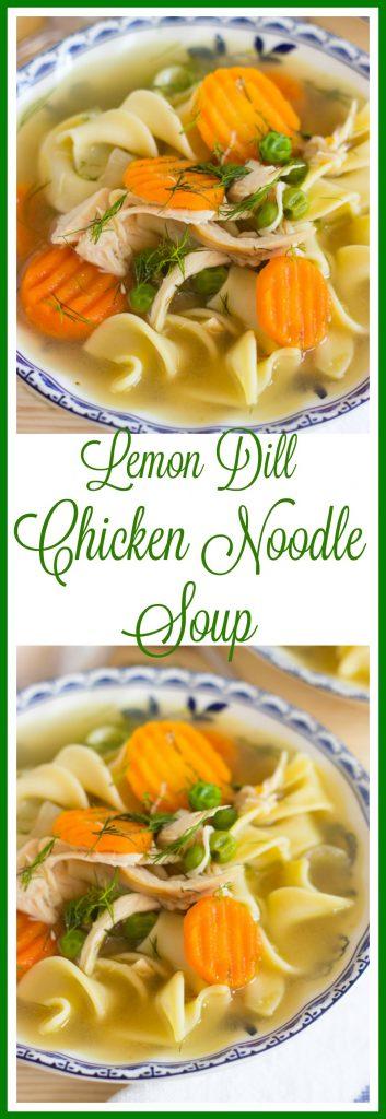 Lemon Dill Chicken Noodle Soup pin