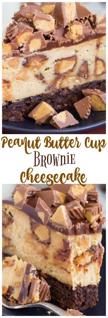 Peanut Butter Cup Brownie Cheesecake pin