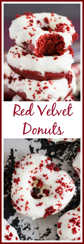 Baked Red Velvet Donut Recipe pin