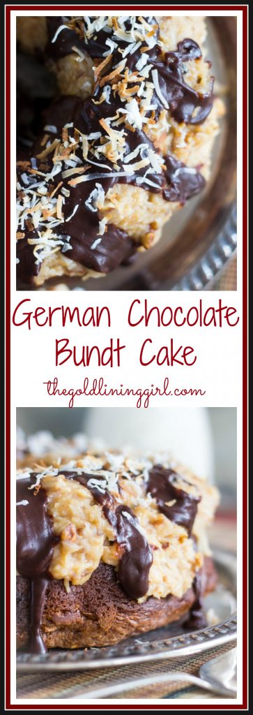 Chocolate Lovers' German Chocolate Bundt Cake pin