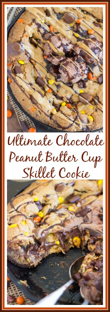 Peanut Butter Chocolate Chip Skillet Cookie image (24)
