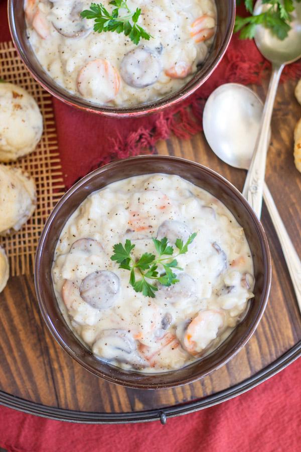 Quick & Easy Mushroom Barley Soup (6)